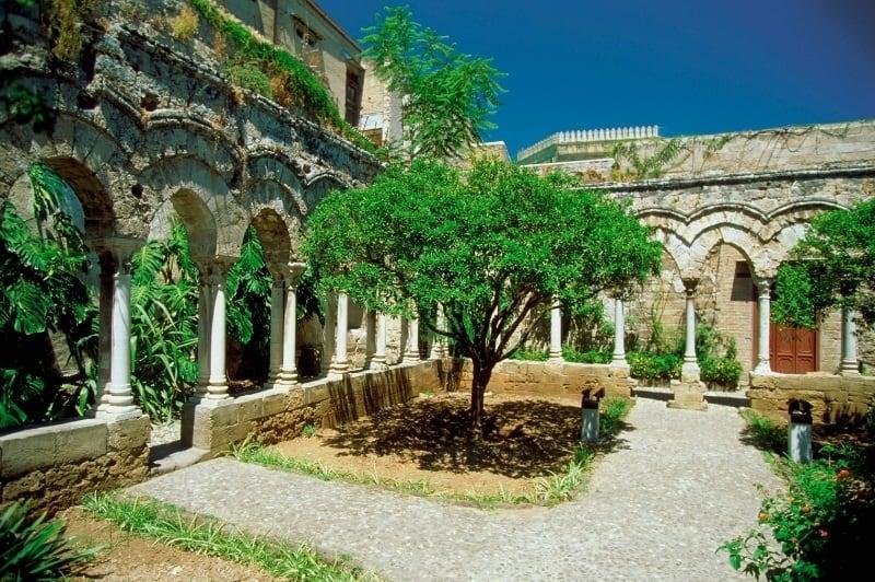The Cloister Garden, San Giovanni degli Eremiti, Palermo, Italy
