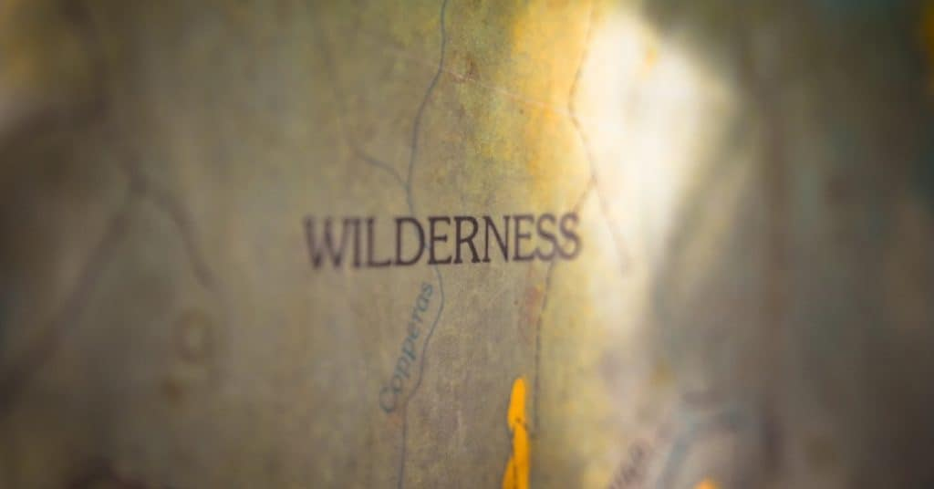 Map with the word wilderness