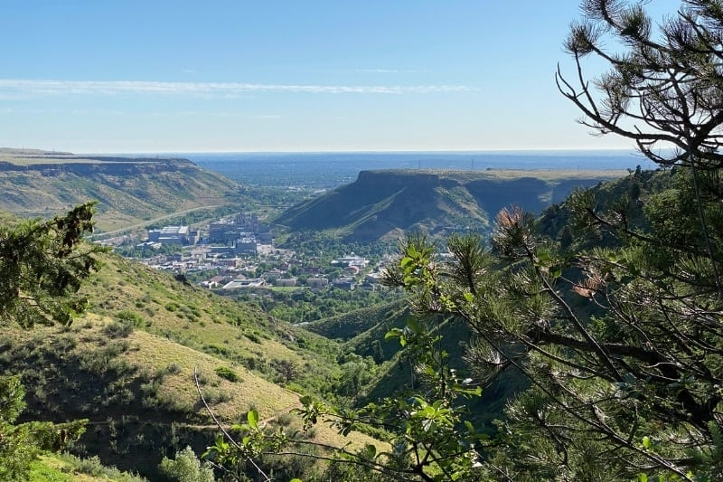 View of Golden Colorado from Chimney Gulch Trail